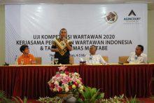 Tambang Emas Martabe Dukung PWI Gelar Uji Kompetensi Wartawan Pertama di Tapanuli Tengah